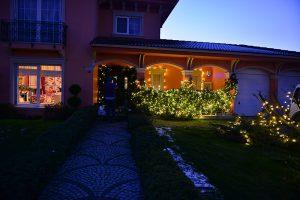 Yeniyıl bahçe ışık düzenlemeleri - Lunlun Çiçek