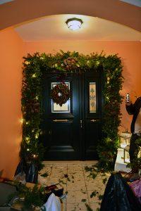Yeni yıl temalı kapı düzenlemesi - Lunlun Çiçek