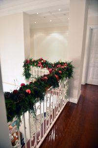 Yeni yıl temalı merdiven süslemesi - Lunlun Çiçek