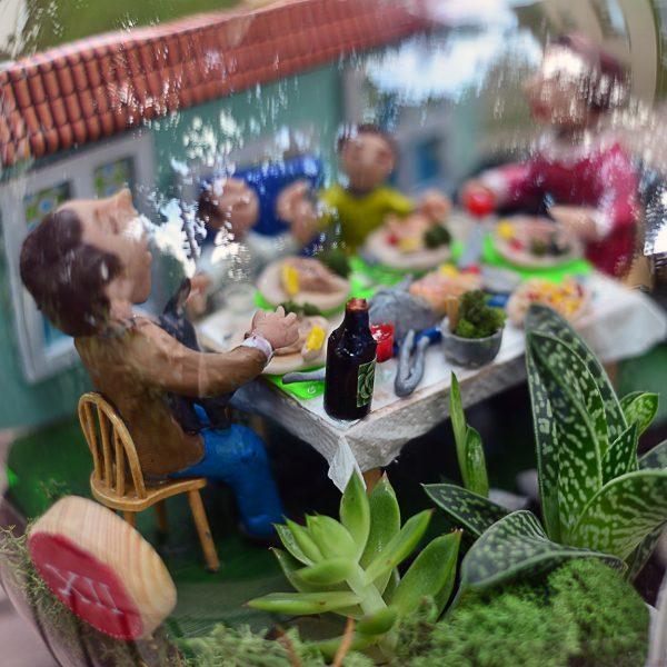 Aile Yemeği - Temalı Terrariumlar -  Lunlun Çiçek