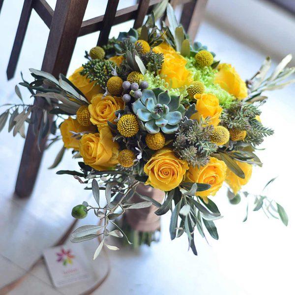 Sarı güller - Gelin Buketleri - Lunlun Çiçek