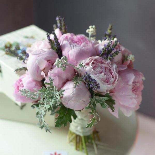 Pembe Şakayıklar - Gelin Buketleri - Lunlun Çiçek