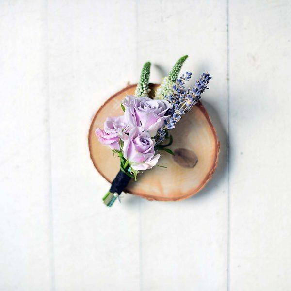 Lila tonda Yaka çiçeği - Gelin Buketleri - Lunlun Çiçek